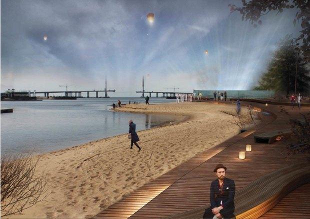 Опубликована визуализация набережной южной части Крестовского острова без ресторанов. Изображение № 3.