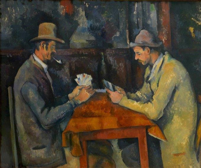 «Игроки в карты» Поля Сезанна, вторая самая дорогая картина в истории, проданная в частном порядке. Изображение № 1.