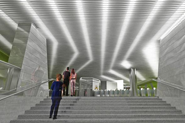 Мэрия показала новую станцию метро «Новокосино». Изображение № 6.