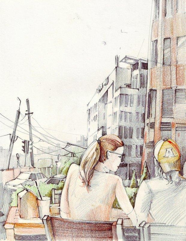 Клуб рисовальщиков: «Белая площадь». Изображение № 9.