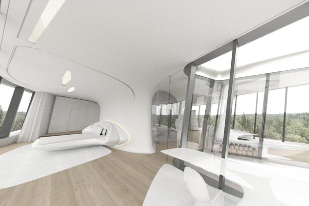 В Барвихе построили дом по проекту Захи Хадид. Изображение № 4.