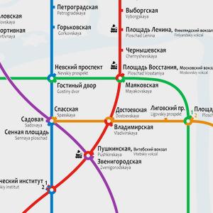 Карты на стол: 11 альтернативных схем петербургского метро. Изображение № 23.