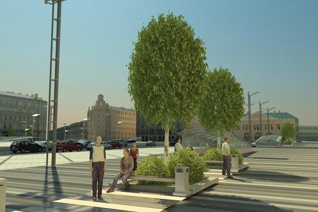 Смольный утвердил проект реконструкции Сенной площади. Изображение № 3.
