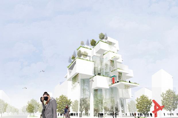 Для Петербурга разработали проекты эко отеля, банка и досугового центра. Изображение № 7.