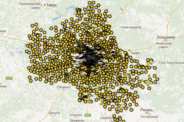 Координаты базовых станций «Билайна» (gsmmap.ru/moscow). Изображение № 6.