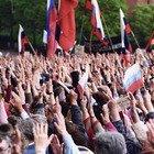 Фоторепортаж: «Народный сход» вподдержку Навального вПетербурге. Изображение № 1.