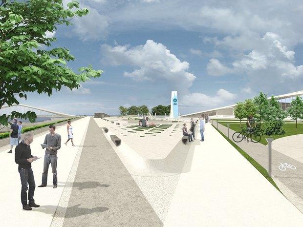 Объявлен победитель пятого конкурса концепций набережной для «Лахта центра». Изображение № 3.