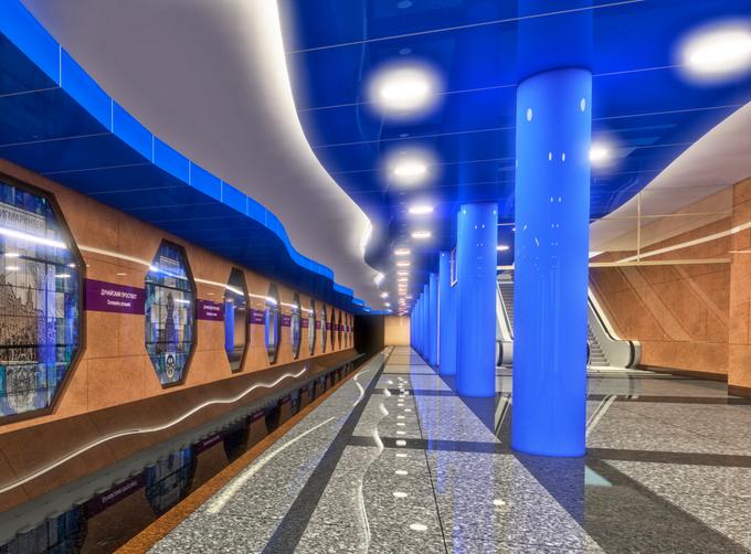 Смольный утвердил внешний вид станции метро «Дунайская». Изображение № 4.