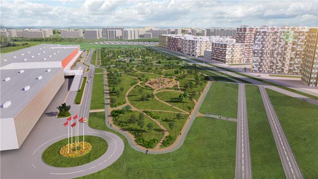 У«Мега Дыбенко» разобьют парк. Изображение № 1.