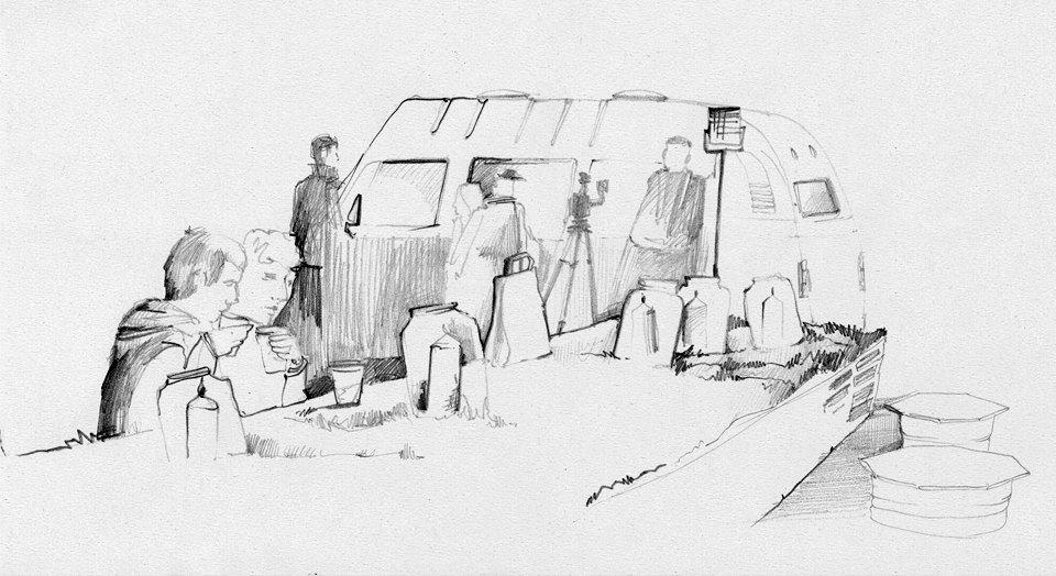 Клуб рисовальщиков: Городской маркет еды на Соколе. Изображение № 9.