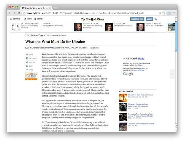 Взгляд со стороны: Западные СМИ — о событиях на Украине. Изображение № 7.