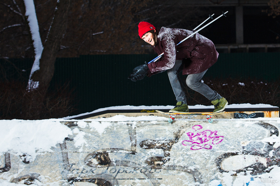 Люди в городе: Где катаются скейтеры зимой. Изображение №1.