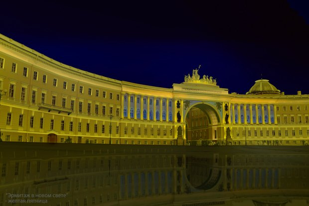 На ночь глядя: 12 проектов подсветки Главного штаба. Изображение № 10.