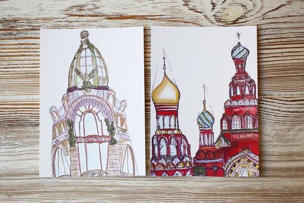 В «Буше» теперь можно отправить открытки силлюстрациями петербургских художников. Изображение № 4.