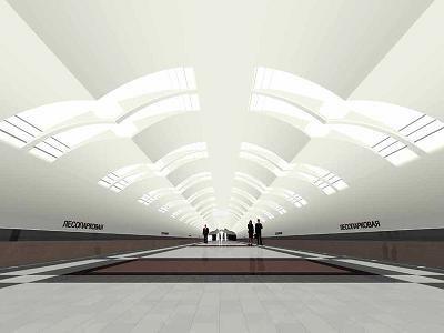 Станция метро «Лесопарковая» откроется 20 декабря. Изображение № 1.