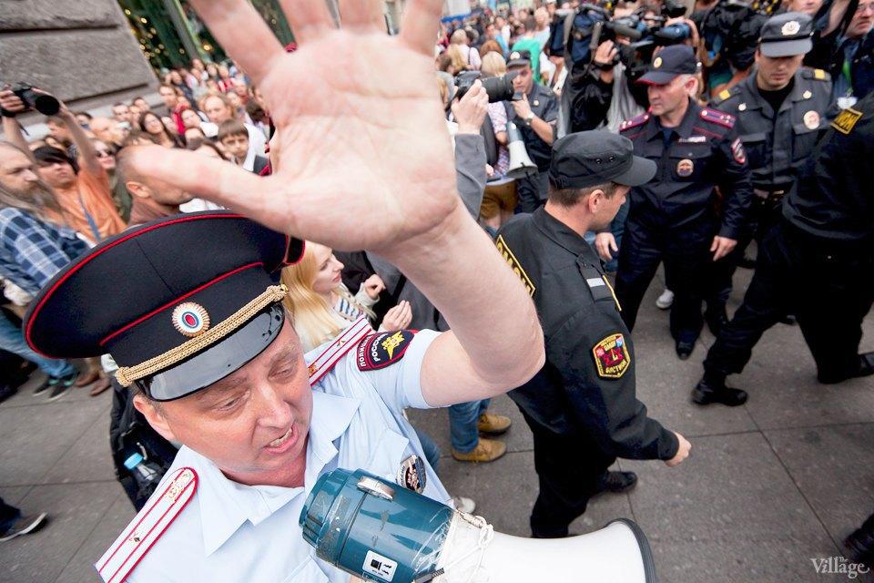 Фоторепортаж: «Народный сход» вподдержку Навального вПетербурге. Изображение № 23.