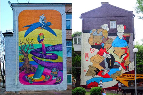Граффитчики разрисуют бульвар Леси Украинки. Зображення № 4.
