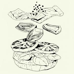 Завтраки дома: Бейгл с лососем иартишоками ибрускетта изресторана «Уголёк». Изображение № 15.