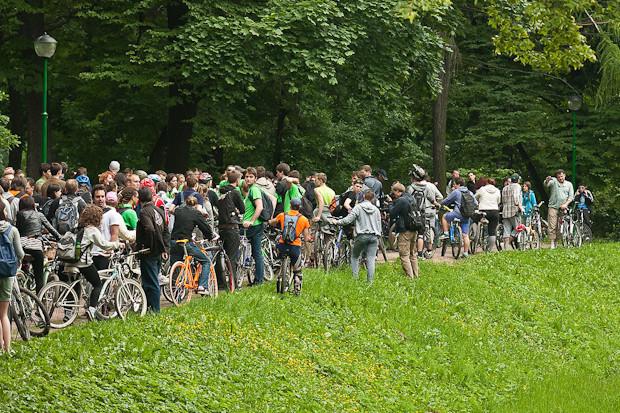 Фоторепортаж: Велопробег «За велогород». Изображение № 1.
