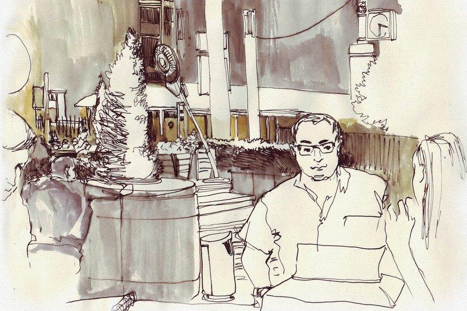 Клуб рисовальщиков: «Белая площадь». Изображение № 8.