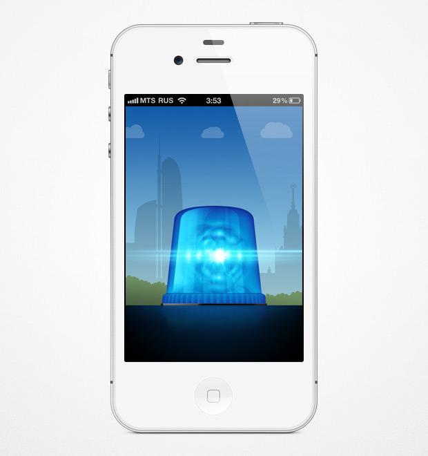 Мигалки на дорогах теперь можно отслеживать через смартфон. Изображение № 1.