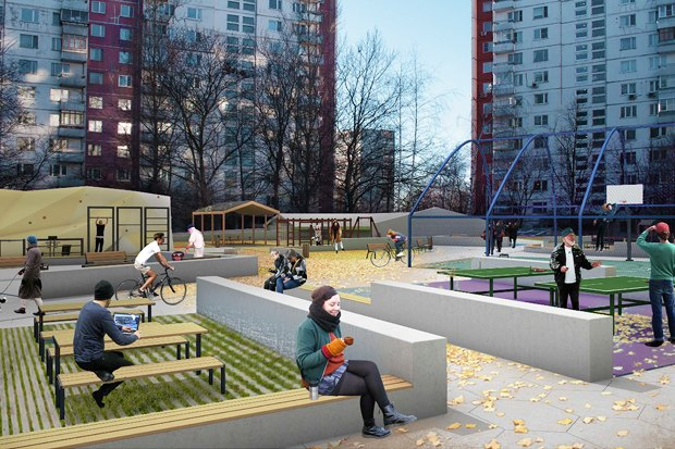 UrbanUrban и «Вышка» обустроят двор в Тропарёве-Никулине. Изображение № 4.