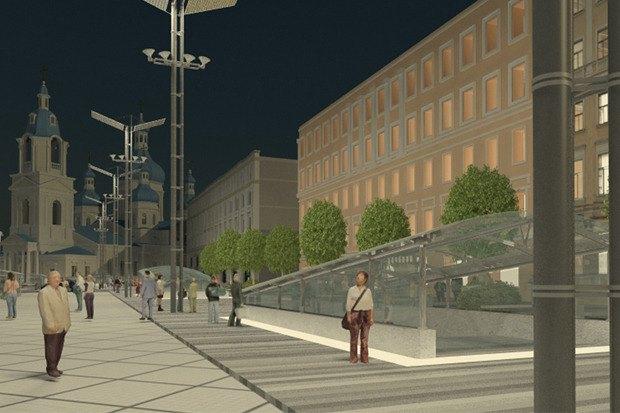 Смольный утвердил проект реконструкции Сенной площади. Изображение № 1.