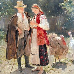 Н. Пимоненко. «Идиллия», 1908. Предоставлено НХМ. Изображение №8.