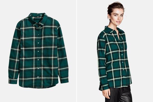 Где купить женскую рубашку вклетку: 9вариантов от одной до семи тысяч рублей. Изображение № 3.