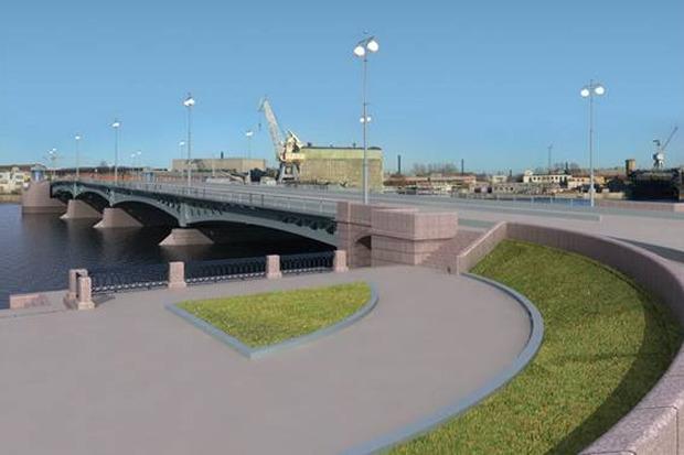 Власти согласовали проект Ново-Адмиралтейского моста. Изображение № 1.