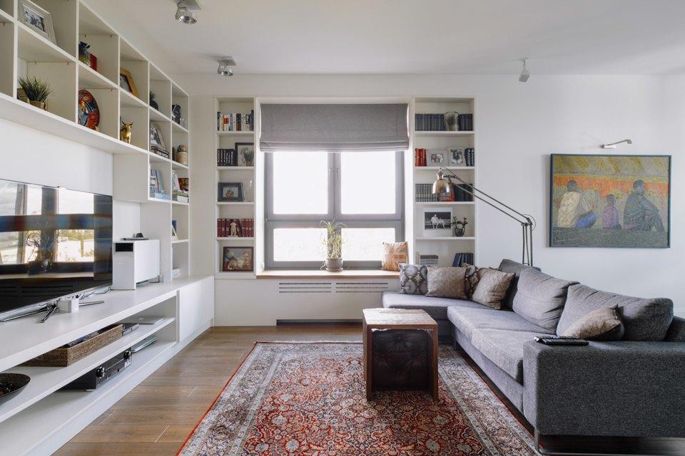 Четырёкомнатная квартира в американском стиле для семьи сдвумя детьми. Изображение № 3.