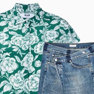 Комбо: Рубашка с фантазийными джинсами — Стиль на Wonderzine
