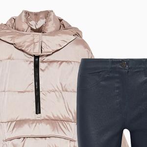 Комбо: Пуховик с брюками клёш — Стиль на Wonderzine