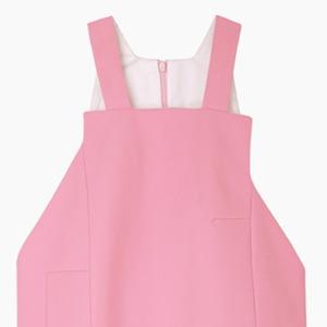 Розовое  платье-передник Jacquemus