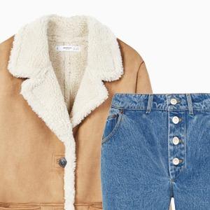 Комбо: Дублёнка c укороченными джинсами — Стиль на Wonderzine