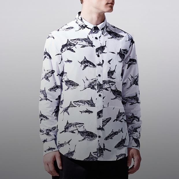 Платья и рубашки с акулами Binary — Новая марка на Wonderzine