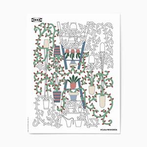 Раскраска для тех, кто очень любит IKEA — Вишлист на Wonderzine