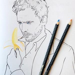 Книжка-раскраска  с Томом Хиддлстоном