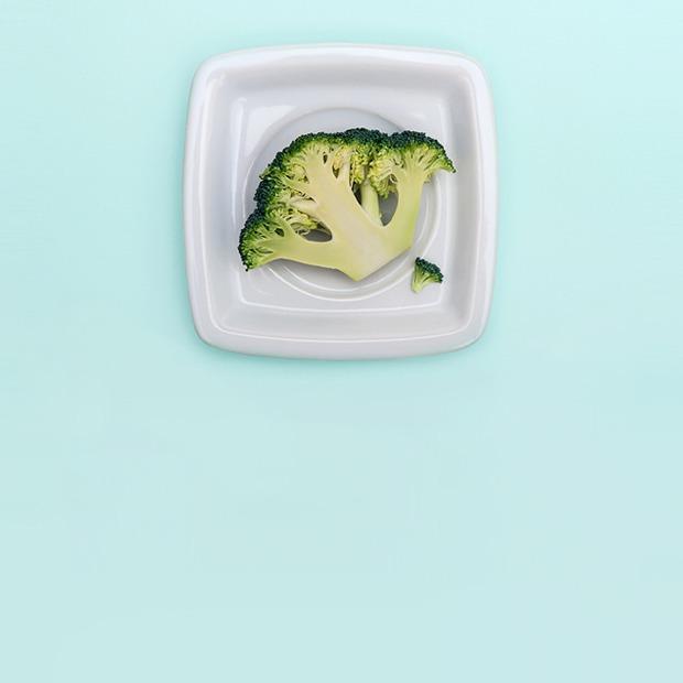 Брокколи:  Гратен с сыром бри