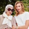 Айрис Апфель и Карли Клосс снялись в рекламной кампании Kate Spade