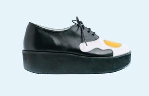 Марка AFOUR и магазин Nevalenki сделали ботинки с яичницей