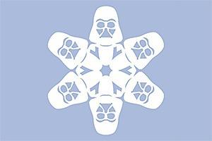 Снежинки с героями «Звездных войн» можно скачать и распечатать