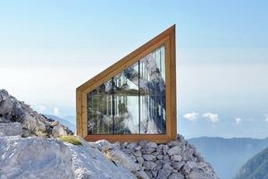 Горное убежище для хайкеров и альпинистов