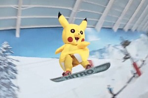 Сноубордист Джейми Николс прокатился  в костюме Пикачу