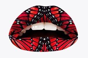 Переводные  татуировки для губ  Violent Lips
