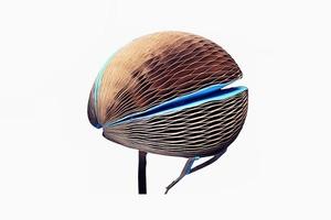 Cкладной экологичный шлем для велосипедистов EcoHelmet