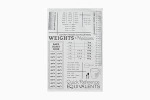Полотенце с единицами мер и весов Crate and Barrel