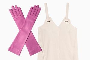 Комбо: Длинные перчатки с платьем