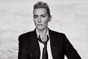 Кейт Уинслет в мужском образе на обложке L'Uomo Vogue