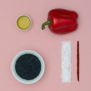 Чечевица:  Черная с овощами